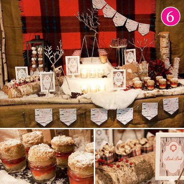 Berries and Birch Themed Holiday Party Ideas