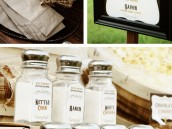 Rustic Popcorn Bar Elements