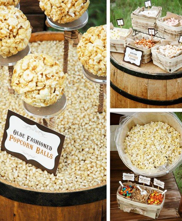 Popcorn Balls and Mystery Flavor Popcorn Game