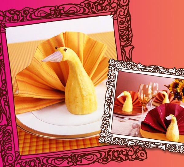 Thanksgiving Turkey Napkin Fold