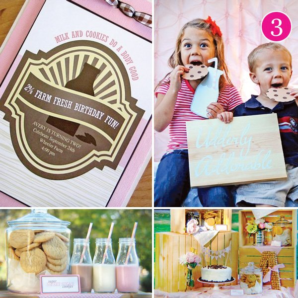 Milk and Cookies Birthday Party Theme Ideas