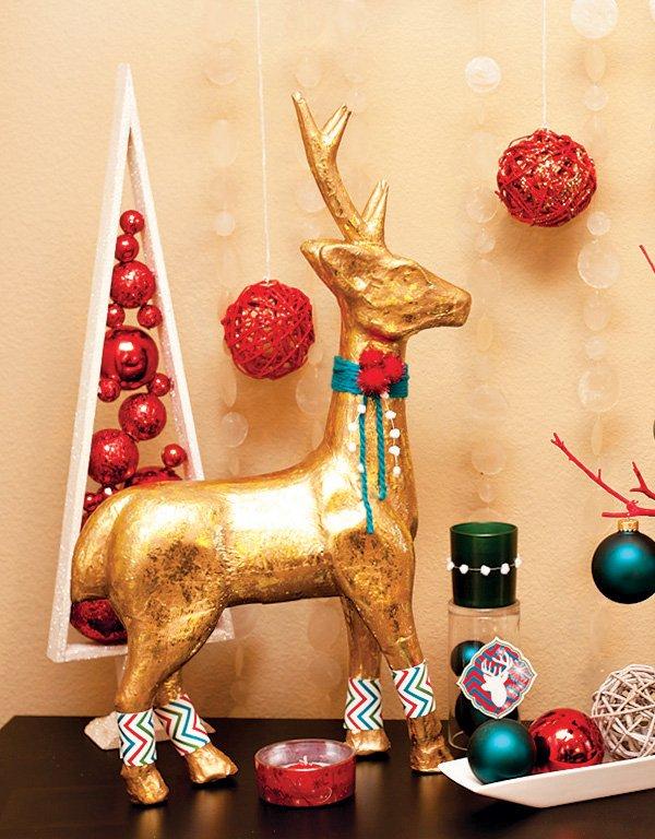 Modern Paper Mache Reindeer DIY Tutorial