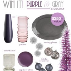 Purple and Gray Inspiration Board & Giveaway