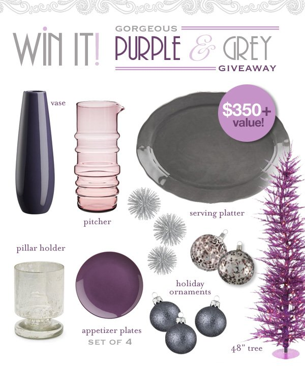 Purple and Grey Inspiration Board & Giveaway