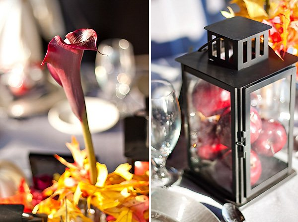 Red and Black Fall Halloween Wedding