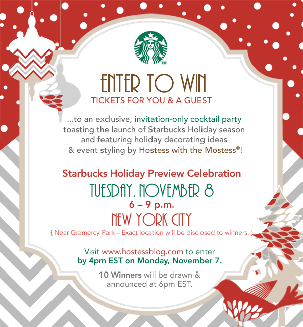 Starbucks Holiday Preview Celebration