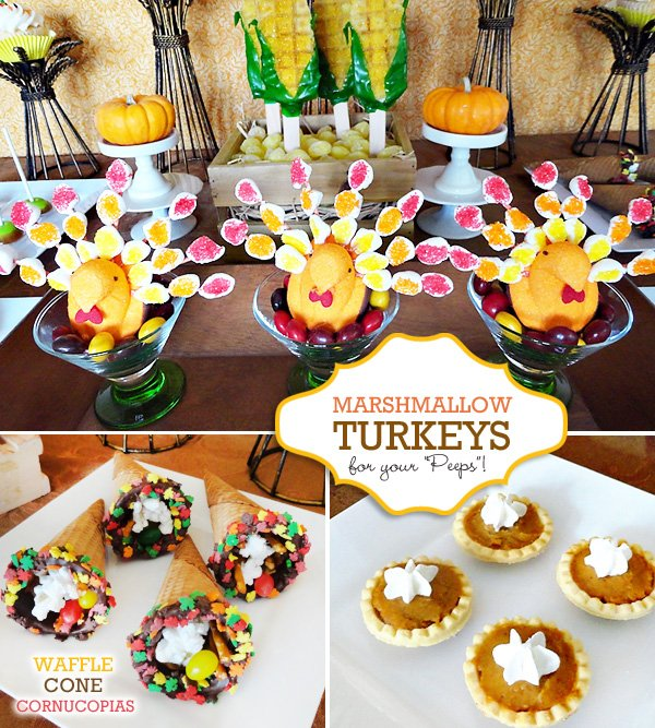 Cute & Clever Thanksgiving Treat Table // Hostess With The