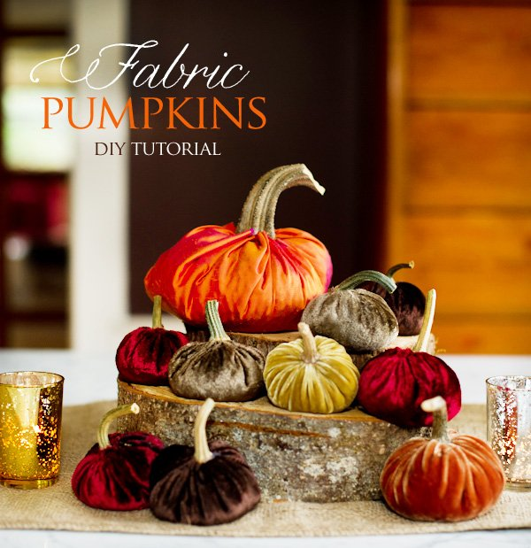Fabric Pumpkins - DIY Tutorial