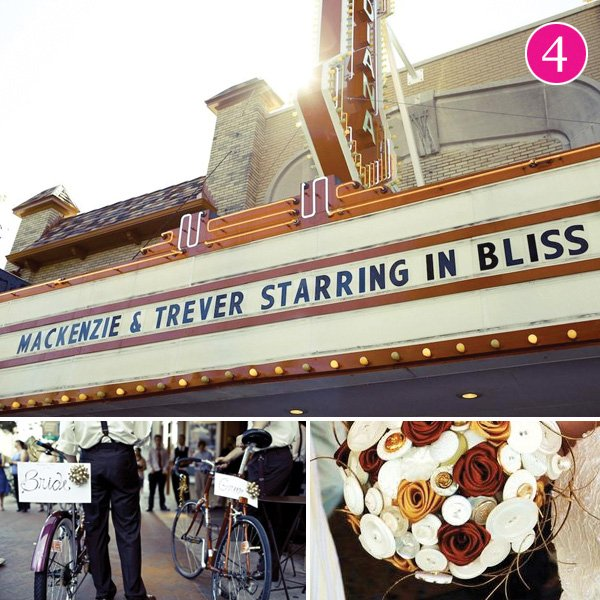 Vintage Theater Inspired Wedding