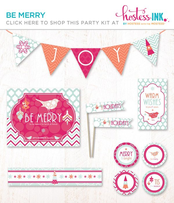 be merry christmas holiday party printables collection