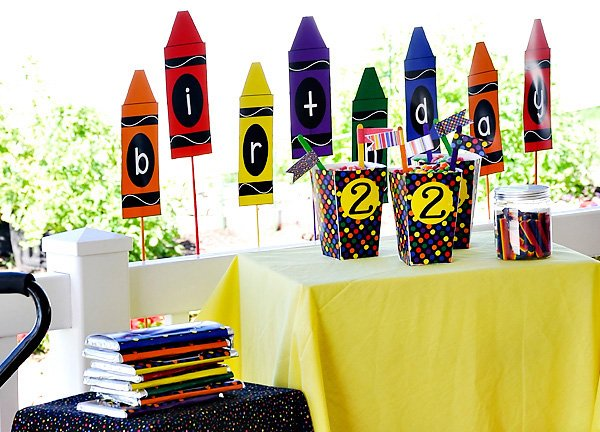 Crayon Birthday Part Activity Station
