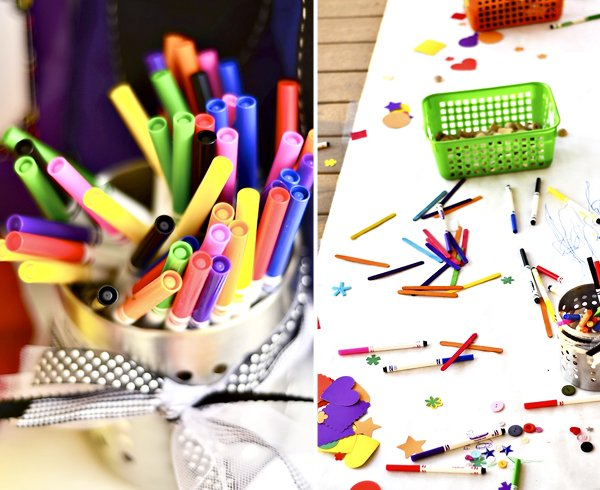 Crayola Markers and Birthday Party Coloring Station