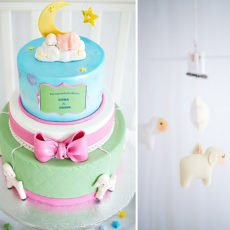 Lullaby Baby Shower Cake