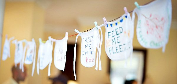 baby shower bib garland