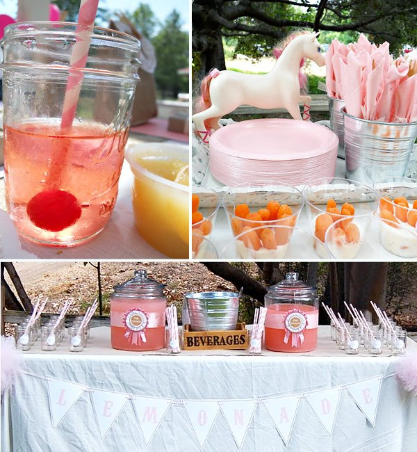 Vintage Pony Birthday Party Dessert Table