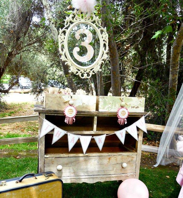 Vintage Pony Birthday Party Dessert Table