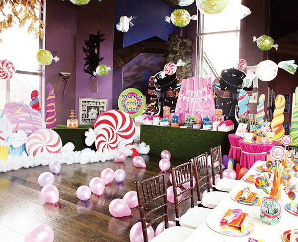 willy wonka themed birthday party invitations