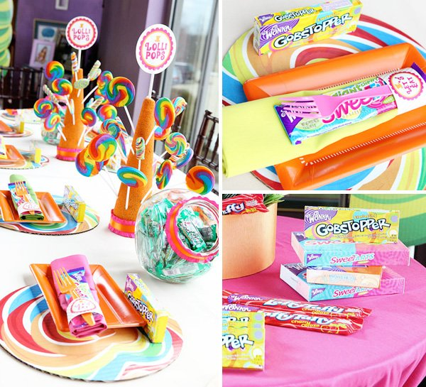 willy wonka themed birthday party decorations