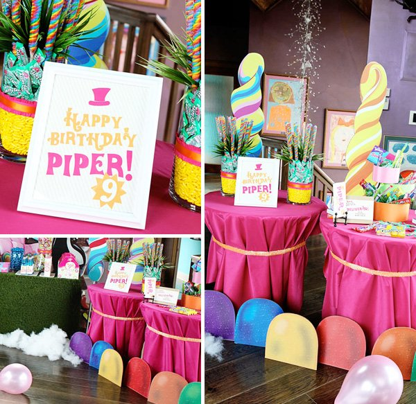 Wonka Themed Birthday Party Decorations