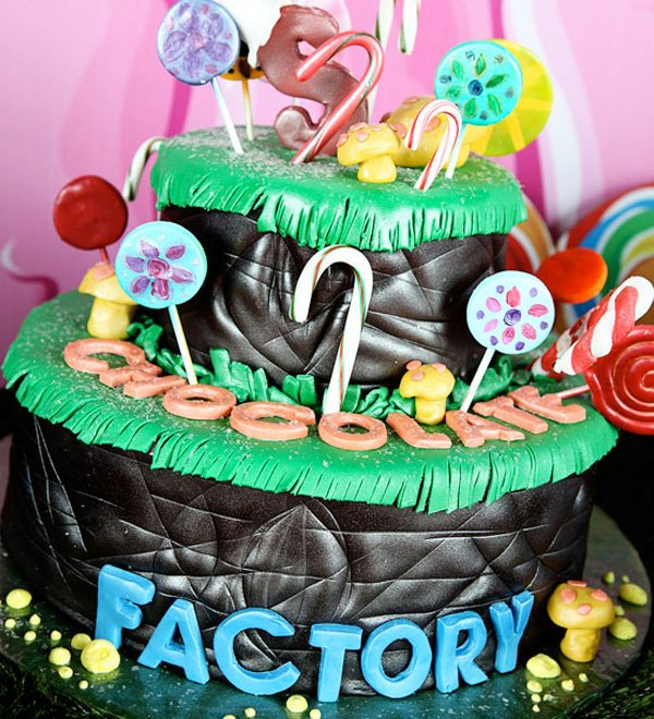 Willy Wonka themed birthday cake