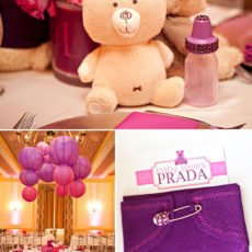 Baby Wears Prada baby shower invitations
