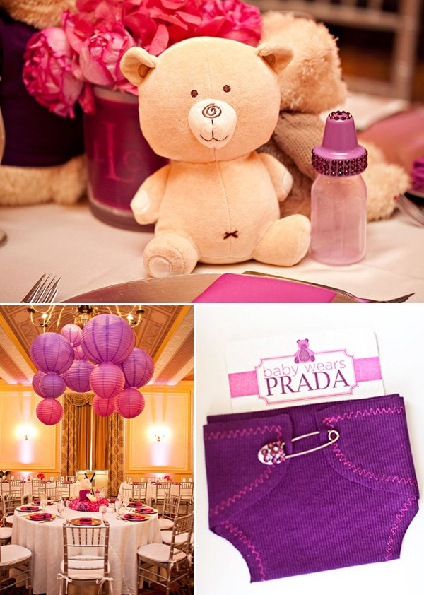 Baby Wears Prada baby shower invitations