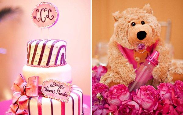 Baby Wears Prada baby shower cake