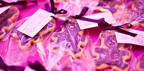 Baby Wears Prada themed baby shower sugar cookies