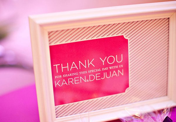 Baby Wears Prada thank you sign