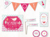 be merry holiday christmas party printables collection from hostess ink