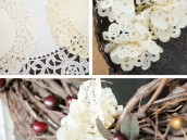 diy doily wreath tutorial