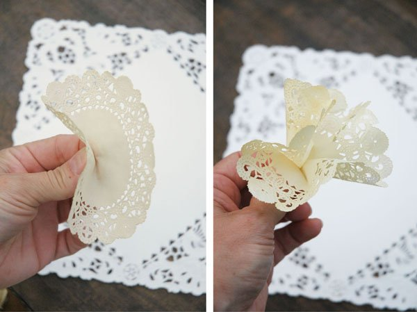 Paper Flower Doily - Step One and Step Two