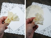 Paper Flower Doily - Step Three and Step Four