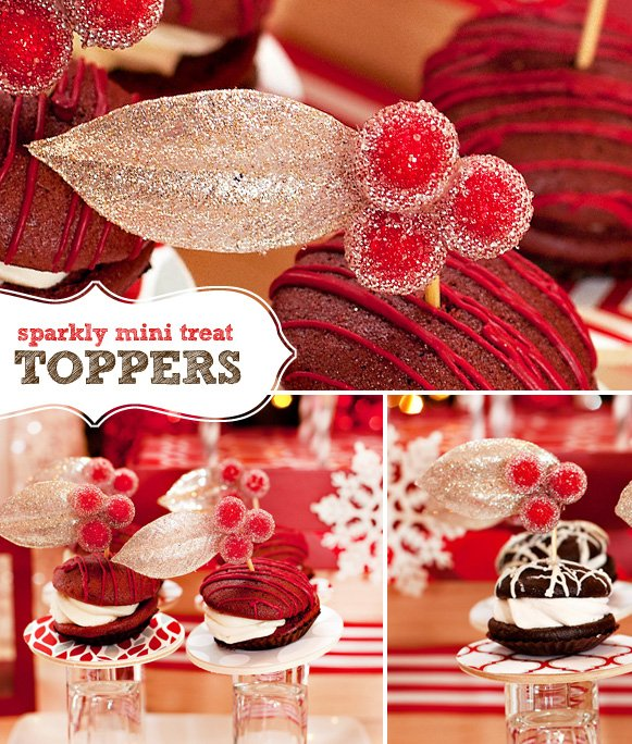 DIY Sparkly Berry Cupcake and Dessert Toppers