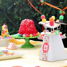 Gumdrop candy party ideas - dessert table