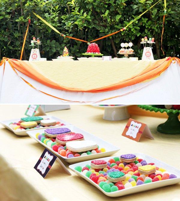 gumdrop candy party dessert table 2