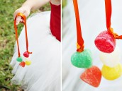 DIY homemade gumdrop candy necklaces
