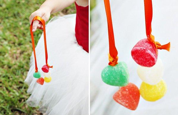 DIY homemade gumdrop candy necklaces