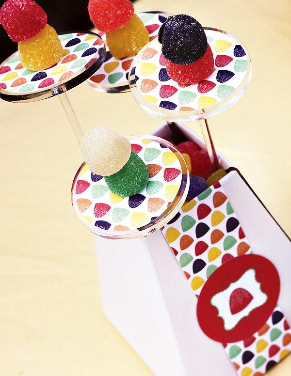 gumdrop candy party centerpiece