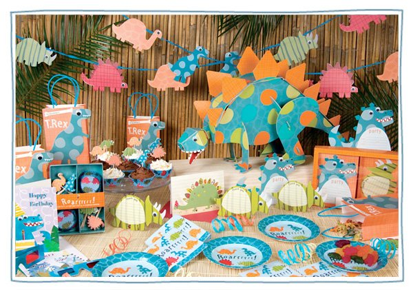 kids Birthday party supplies - Dinosaur Collection by Meri Meri
