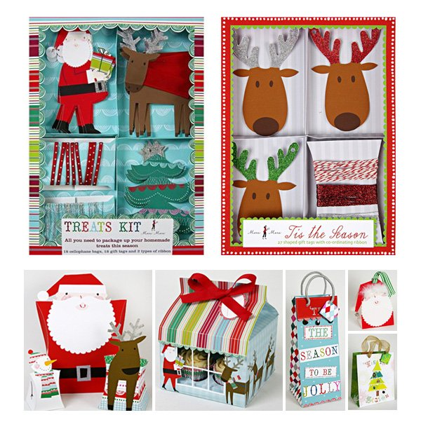 modern christmas party supplies by Meri Meri - cupcake kits and gift boxes