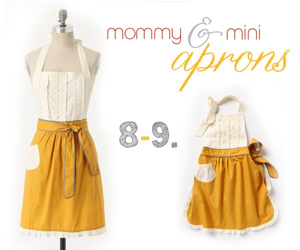 mommy & me aprons from anthropologie