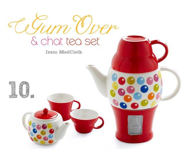gumball tea set