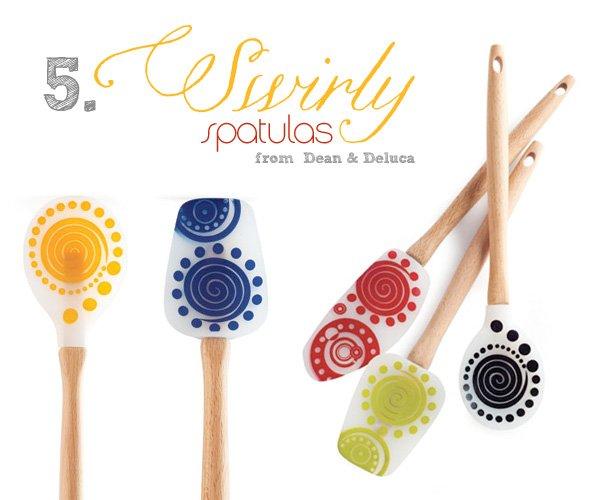 modern silicone spatulas from Dean & Deluca