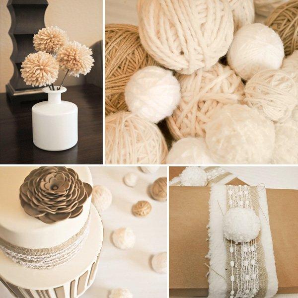 little lamb birthday party yarn balls