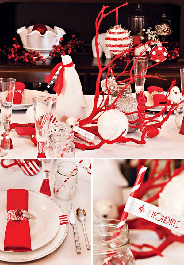 Modern Red White Christmas Holiday Party