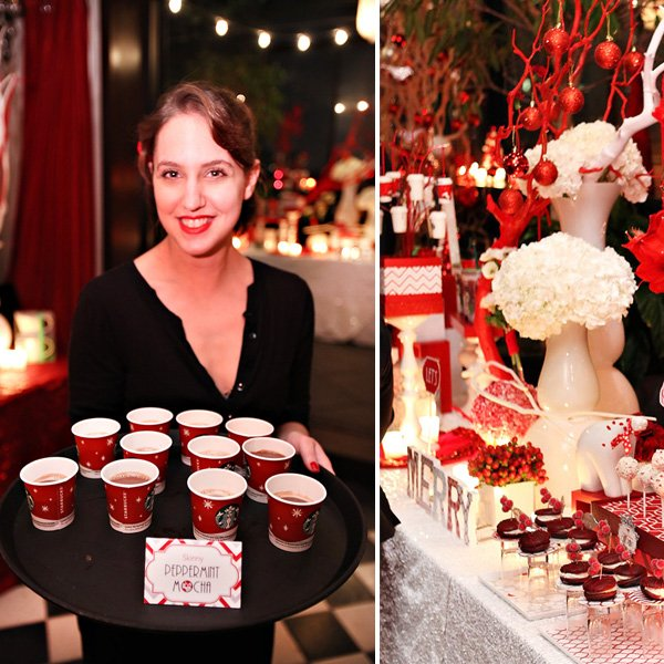 Modern Red and White Holiday Party - Skinny Peppermint Mocha Shots