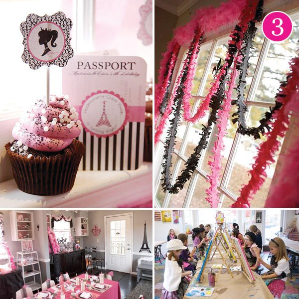 paris themed girls birthday party