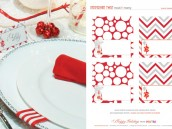 Free Holiday Printables - Place Cards - Peppermint Twist