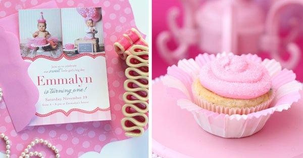 Invitation and Cupcake
